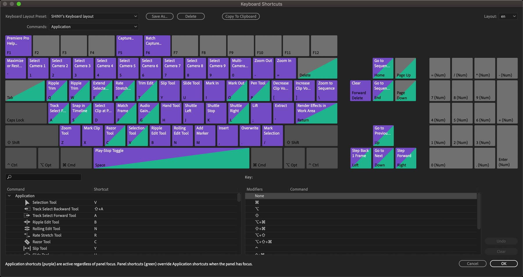 Premiere-Pro-Keyboard-shortcuts-window